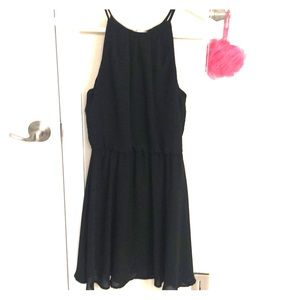 Lush black chiffon dress